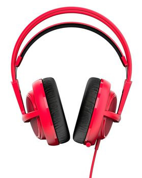 STEELSERIES Siberia 200 / Gaming Headset with retractable Microphone, on the cord volume control, 50mm neodymium drivers, Comfortable, Lightweight, Cable lenght 1.8 m, 3.5mm jack, Forged Red