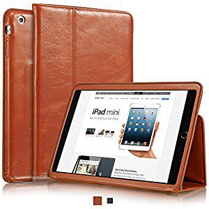 """PORT IPAD-EBOOK Line/BERLIN IPAD BROWN/9.7"""" Skin-Quilted nylon pouch with reinforced koskin angles-Memory foam inside, black pocket for cables (243X190X14mm)"""