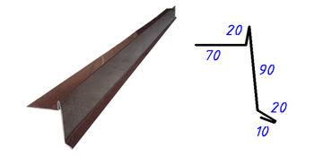 купить Ветровая планка для гонта RAL-6005 (зеленый)  2.0м в Кишинёве