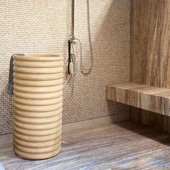 купить Раковина для ванной травертин SP-23, 42 х 83 см в Кишинёве