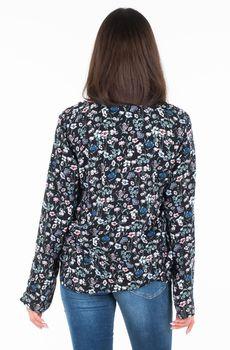 Блуза TOM TAILOR Черный в цветочек