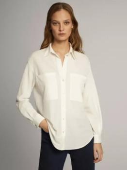 Блуза Massimo Dutti Слоновая кость 6842/672/712