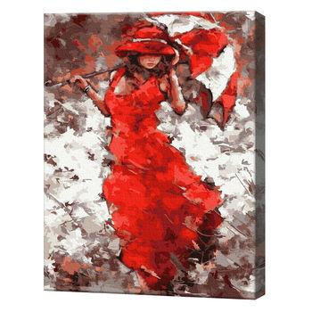 Девушка под зонтом Картина по номерам, 40x50 см