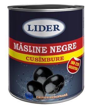 Маслины черные LIDER 850ml (с косточкой)