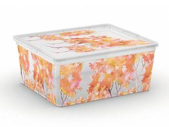 Коробка с крышкой Nature M, 18l, 40X34XH17cm