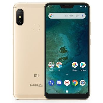 """Xiaomi Mi A2 Lite EU 32GB Gold, DualSIM, 5.84"""" 1080x2280 IPS, Snapdragon 625, Octa-Core up to 2.0GHz, 3GB RAM, Adreno 506, 12MP+5MP/5MP, LED flash, 4000mAh, WiFi-N/BT4.2, LTE, Android One, Infrared port, 178g"""