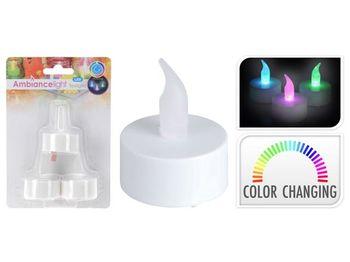 Набор свечей LED чайных 3шт, меняющих цвет, 60ч