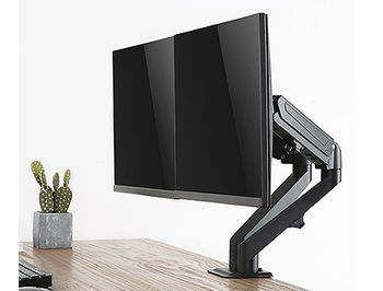 """Brateck LDT25-C024 Stylish Dual Monitors Gas Spring Arm, for 2 monitors, Clamp-on, 17""""-27"""", +90"""