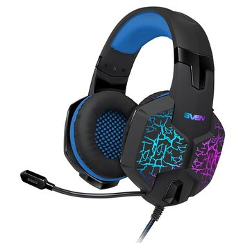 SVEN AP-U980MV, Gaming Headphones with microphone, sound 7.1, 7 colors dynamic backlight, Non-tangling cable with fabric braid, Cable length: 2.2m, USB