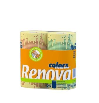 купить RENOVA Бумажные полотенца  Deco Double Face (2) 8002882 в Кишинёве