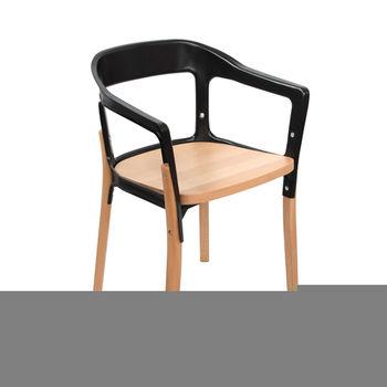 купить Деревянный стул с металлической рамой, 580.5x470x440 мм, черный в Кишинёве