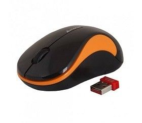 купить Wireless Mouse A4Tech G3-270N-2, Optical, 1000 dpi, 3 buttons, Ambidextrous, 1xAA, Black/ Orange в Кишинёве