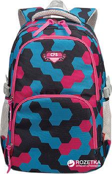 Рюкзак для подростков CFS I синий с розовым