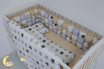 cumpără Set lenjerie pentru pătuc Happy Baby Stars (6 un.) în Chișinău