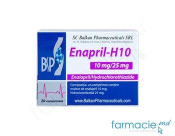 купить Enapril-H10 comp.10 mg + 25 mg N20 (Balkan) в Кишинёве