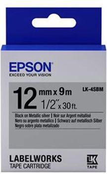 купить C53S654019 Tape Epson LK4SBM Metallic Blk/Siv 12/9 в Кишинёве