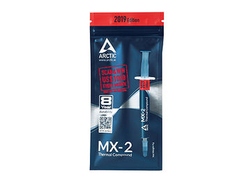 Arctic MX-2 Thermal Compound 2019 Edition 4g, Thermal Conductivity 5.6 W/(mK), Viscosity 850 poise, Density 3.96 g/cm3