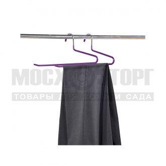 купить Вешалка-плечики для брюк 2шт KESPER антискольз.36х0,8см металл фиолетовый 16501 в Кишинёве