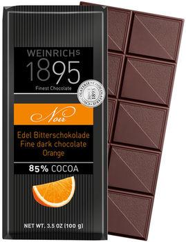 Горький шоколад Weinrichs 1895 Fine Dark Chocolate Noir 85% с маслом апельсина.