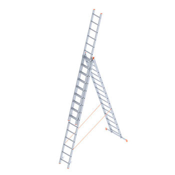 Лестница алюминиевая Sarayli Triple 3x16