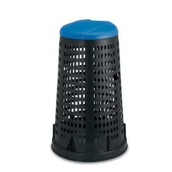 купить Мусорный контейнер Trespolo 100 л, черный с синей крышкой в Кишинёве