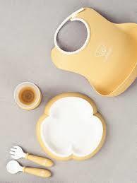 купить Набор для кормления BabyBjorn Powder Yellow в Кишинёве