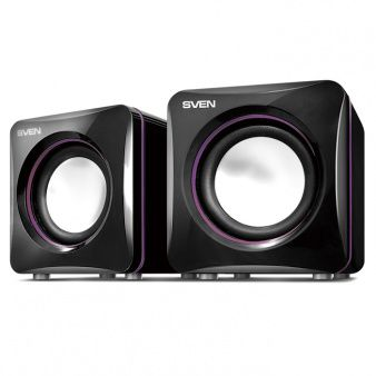 Speakers SVEN 315 Black (USB),  2.0 / 2x2.5W RMS, USB power supply, Aluminum diffusers
