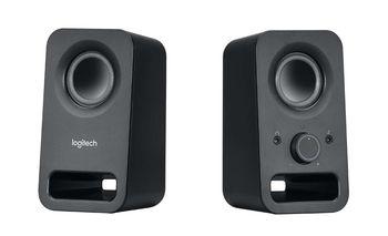 Logitech Z150 Speakers 2.0 ( RMS 3W, 2x1.5W ), Stereo headphone jack, Black