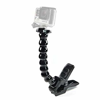 GoPro Jaws: Flex Clamp -attach your camera directly to the clamp for low-profile mounting, or use the optional neck to achieve a wider range of camera-angle adjustability, compatible with all GoPro cameras.
