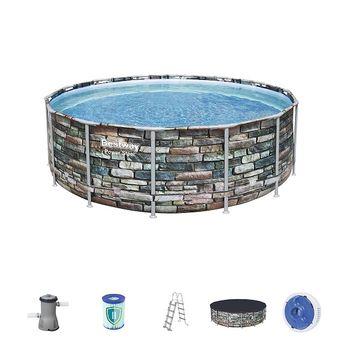 Бассейн Power Steel 427x122cm, 15232Л, метал каркас