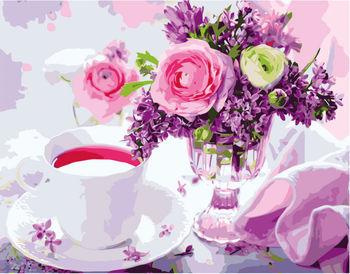 """""""Утренний чай"""", 40х50 см, картина по номерам VA2673"""