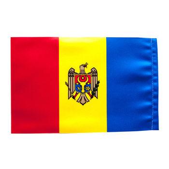 cumpără Steguleț de masă din satin al Moldovei sau altor țări - 22x11 cm în Chișinău