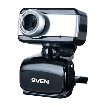 Camera SVEN IC-320, Microphone, 0.3Mpixel - 8Mpixel, UVC, USB2.0, Black