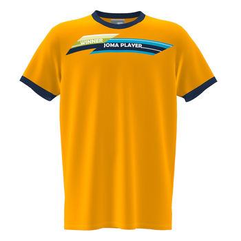 Футболка JOMA - SLEEVE T-SHIRT ORANGE NAVY