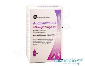 купить Аугментин, порошок. 457 мг 35мл (от 2-х месяцев до 2-х лет) в Кишинёве