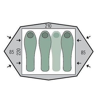Палатка Pinguin Gemini 210 Green