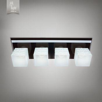 N&B Light Люстра Пиастра 10144-1 черный глянец/белый глянец