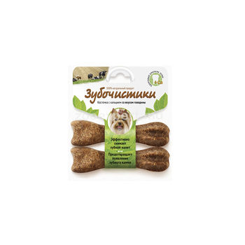 купить Зубочистки для собак мелких пород со вкусом говядины  2x18 gr в Кишинёве