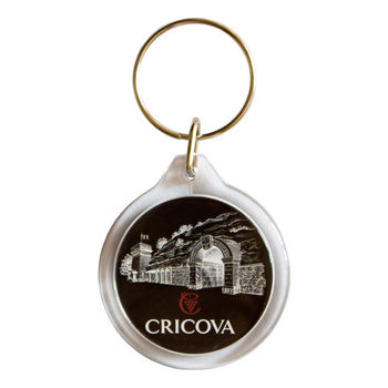 купить Брелок круглый пластиковый – Крикова (черный) в Кишинёве