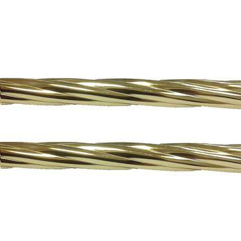 Delfa Труба карнизная двухрядная рифленая золотистая 2,4