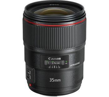 Prime Lens Canon EF 35 mm f/1.4L II USM, 10/8, Angle of view 63*/38*/54*, Blades 8, Max/Min aperture 2.0/22, Close focus to 0.24m, Image stabilizer - 4 steps, DxL- 77,9 x 62,6mm, W - 335g, Acces:Lens Filter 67, Cap E-67II, Hood EW-65II, Case LP1116