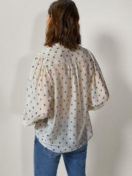 Блуза Massimo Dutti Слоновая кость с принтом 5162/870/629