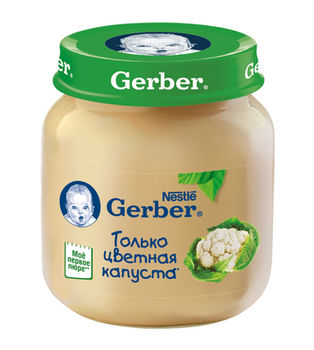 купить Gerber пюре цветная капуста 5+мес. 130г в Кишинёве