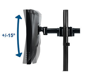 """Arctic Z2 Basic Monitor Arm for 2 monitors, 13""""-27"""", +90"""