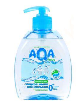 купить AQA baby Жидкое мыло для малыша с дозатором 300 мл в Кишинёве