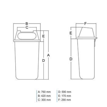 купить Бак мусорный 50 л P маятник на мет. ножках (оранжевый) UNI в Кишинёве