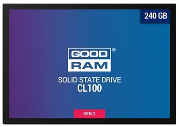 "2.5"" SSD 240GB  GOODRAM CL100 Gen.2, SATAIII, Sequential Reads: 520 MB/s, Sequential Writes: 400 MB/s, Thickness- 7mm, Controller Marvell 88NV1120, NAND TLC"