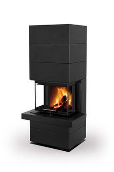 Дизайнерская аккумуляционная каминная печь ROMOTOP CARA CS N 03 - с выдвижной подъемной дверцей