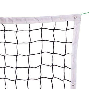 Сетка для волейбола 9.5x1 м PP 4 мм, 12x12 см, с металлическим тросом C-6399 (5344)