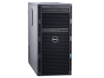 "Dell PowerEdge T130 Tower, Intel Xeon E3-1220 v6 (3.0GHz, 8M Cache, 4C/4T, 80W), 8GB DDR4 UDIMM RAM, 2TB 7.2K RPM NLSAS HDD (up to 4 3,5"" Cabled HDD), DVD-RW, PERC H330 RAID, iDRAC8 Basic, Broadcom 5720 DP 1Gb,  290W cabled PSU"